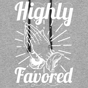Highly Favored - Alt. Design (White Letters) - Colorblock Hoodie