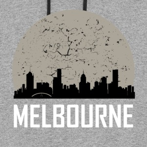 Melbourne Full Moon Skyline - Colorblock Hoodie