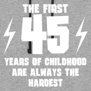 The First 45 Years Of Childhood - Colorblock Hoodie