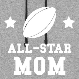 All Star Rugby Mom - Colorblock Hoodie