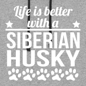 Life Is Better With A Siberian Husky - Colorblock Hoodie