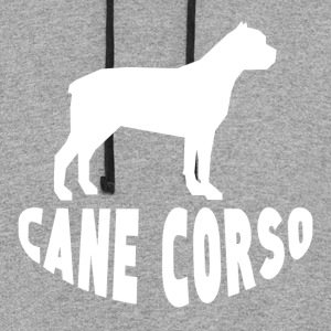 Cane Corso Silhouette - Colorblock Hoodie