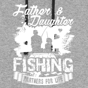 Father And Daughter Fishing Partners Shirt - Colorblock Hoodie