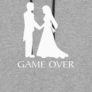 Game Over Wedding - Colorblock Hoodie