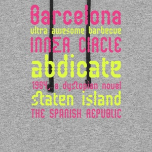Barcelona ultra awesome barbecue - Colorblock Hoodie