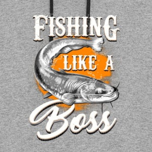 Fishing like a BOSS - Colorblock Hoodie