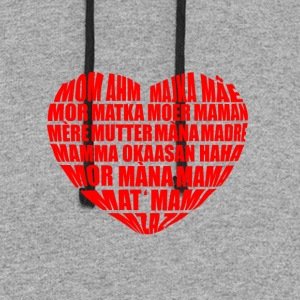 Mom in many languages - Colorblock Hoodie