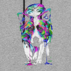 Border Collie Shirt - Colorblock Hoodie