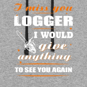 I miss you Logger T-Shirt - Colorblock Hoodie