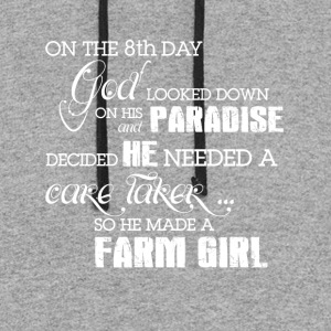 He made a Farm girl T Shirts - Colorblock Hoodie