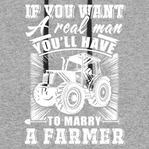 To marry a Farmer T Shirts - Colorblock Hoodie