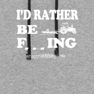 I d rather be Farming T Shirts - Colorblock Hoodie