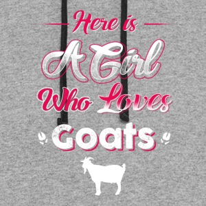 Who loves Goats T-Shirts - Colorblock Hoodie