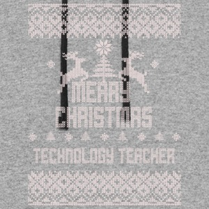 Merry Christmas Technology Teacher - Colorblock Hoodie