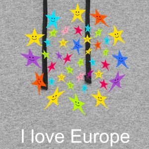 I love Europe Tshirt - Colorblock Hoodie