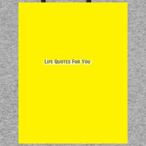 LIFE QUOTES FOR YOU yellow-Blue Denim and Lemonade - Colorblock Hoodie