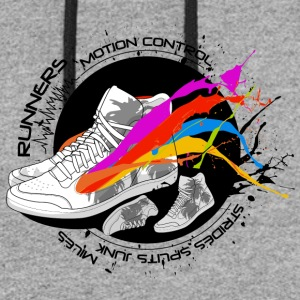 Colored shoe runners paradise graphic art - Colorblock Hoodie