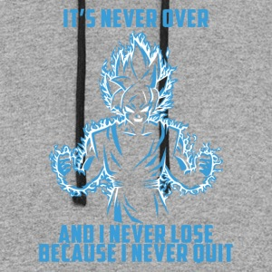 super saiyan goku - it's never over - Colorblock Hoodie