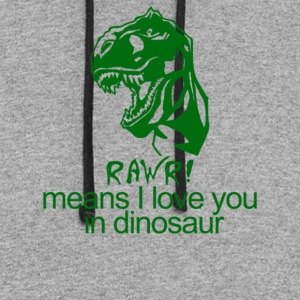 Rawr Means I Love You In Dinosaur - Colorblock Hoodie