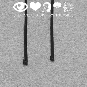 I Love Country Music - Colorblock Hoodie