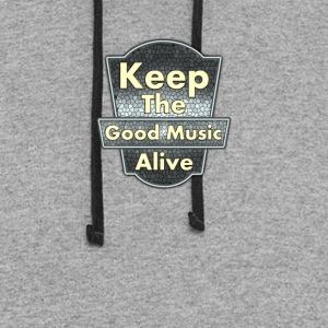 Keep The Good Music Alive Vintage - Colorblock Hoodie