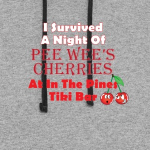 I Survived a Night of Pee Wee's Cherries - Colorblock Hoodie
