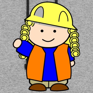 construction girl 2400px - Colorblock Hoodie