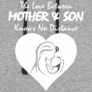 The Love Between Mother And Son Knows No Distance - Colorblock Hoodie