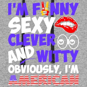 Im Funny Sexy Clever And Witty Im American - Colorblock Hoodie