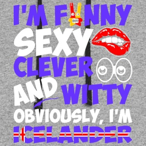 Im Funny Sexy Clever And Witty Im Icelander - Colorblock Hoodie