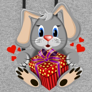 rabbit-Valentine-s-Day-gift-hare - Colorblock Hoodie