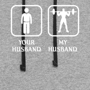 Husband Weightlifting Love- cool shirt,geek hoodie - Colorblock Hoodie