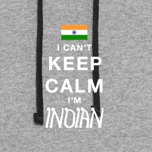 I CAN'T KEEP CALM I'M INDIAN - Colorblock Hoodie