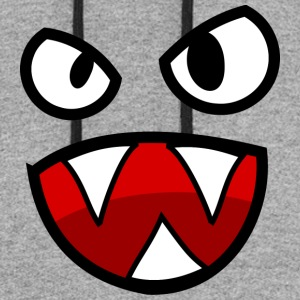 clipart face with big mouth 14 - Colorblock Hoodie