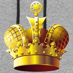 Monarch vip golden royal crown King gold art cool - Colorblock Hoodie