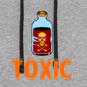 SKULL TOXIC POISION BOTTLE BLUE RED ORANGE - Colorblock Hoodie