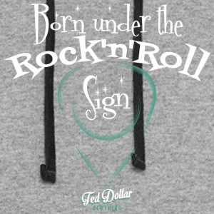 Born Under the Rock'n'Roll Sign_ - Colorblock Hoodie