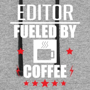 Editor Fueled By Coffee - Colorblock Hoodie
