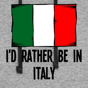 I'd Rather Be In Italy - Colorblock Hoodie