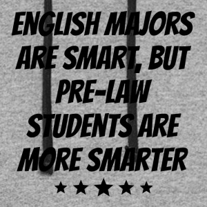 Pre Law Students Are More Smarter - Colorblock Hoodie