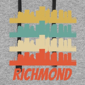 Retro Richmond VA Skyline Pop Art - Colorblock Hoodie