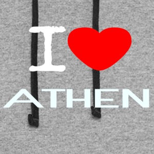 I LOVE ATHEN - Colorblock Hoodie