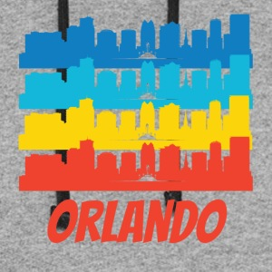 Retro Orlando FL Skyline Pop Art - Colorblock Hoodie