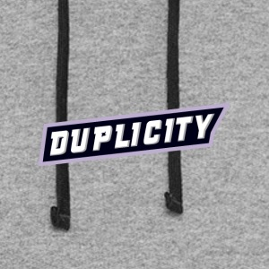 Duplicity Lettering - Colorblock Hoodie