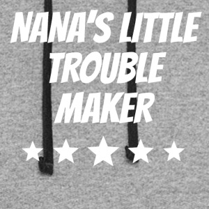 Nana's Little Trouble Maker - Colorblock Hoodie