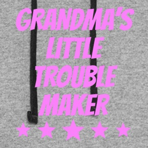 Grandma's Little Trouble Maker - Colorblock Hoodie