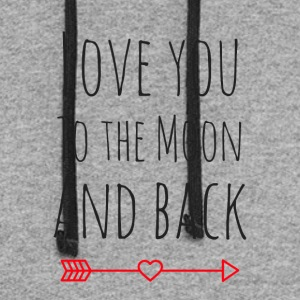 Love you to the moon and back - Colorblock Hoodie