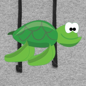 Cartoon Sea Turtle - Colorblock Hoodie
