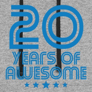 20 Years Of Awesome 20th Birthday - Colorblock Hoodie