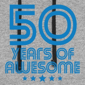 50 Years Of Awesome 50th Birthday - Colorblock Hoodie